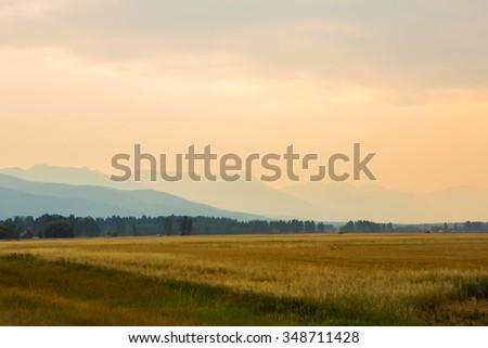 Beautiful Montana Landscape - stock photo