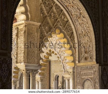 beautiful moor architecture - stock photo