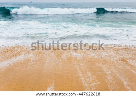Beautiful morning landscape tropical beach.