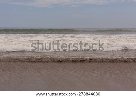 Beautiful Morning On The Pacific Ocean, South America  - stock photo