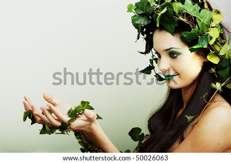 Beautiful mother nature presenting your product or concept - stock photo