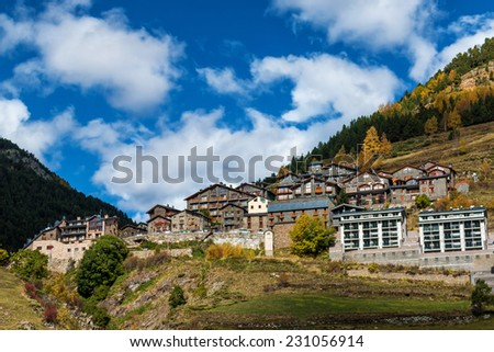 Beautiful mountain in Andorra (Pyreness) - stock photo