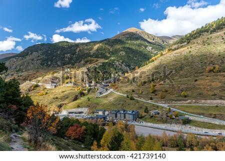 Beautiful mountain in Andorra (Pyreness) - stock photo