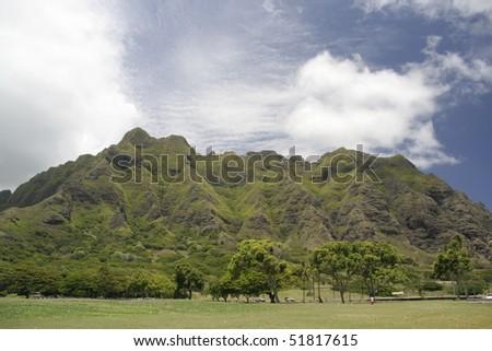 Beautiful mountain in Hawaii - stock photo
