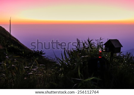 Beautiful mountain in nature (Phu tub Berk hill in Thailand) - stock photo