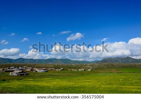 Beautiful mountain landscape, Armenia - stock photo