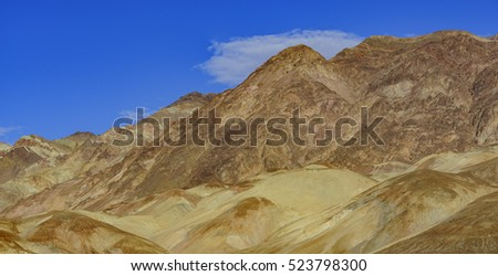 Beautiful mountain landscape around Mt Perry, Death Valley National Park, California