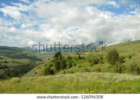 Beautiful  Mountain Landscape In Rural Montana