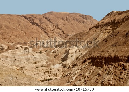 Beautiful mountain landscapes accompany with our travel to the Dead Sea