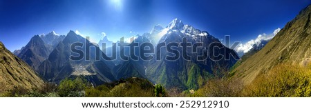 Beautiful mountain lanscape. - stock photo