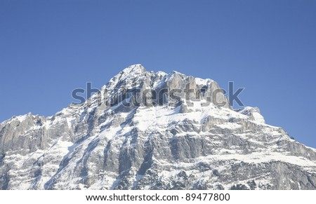 Beautiful mountain on a blue sky background