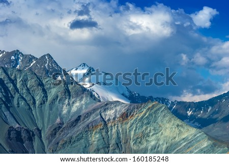 beautiful mountain ridge - stock photo