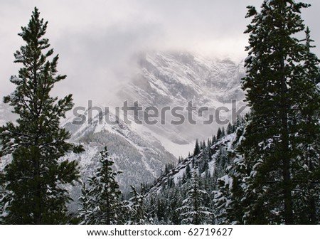 Beautiful mountain scenes from Peter Lougheed Provincial Parks Alberta Canada - stock photo