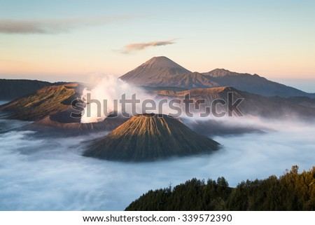 beautiful mt.Bromo in Tengger Semeru National Park, East Java, Indonesia