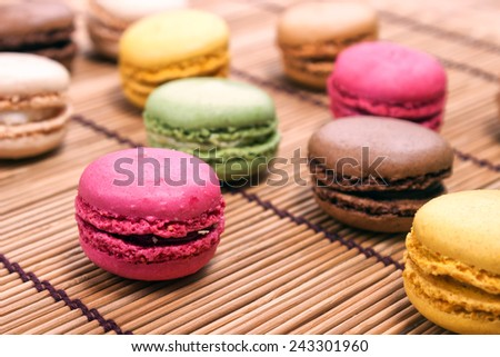 Beautiful Multicolored Macarons