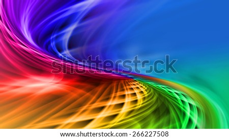 Beautiful multicolored pattern background iridescent color streams - stock photo