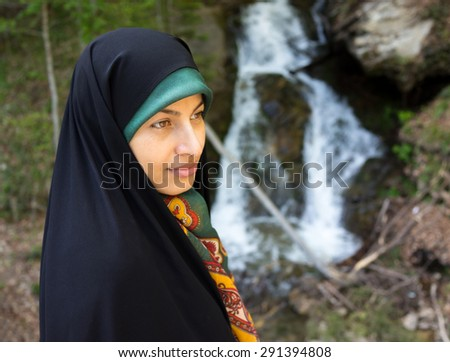 Beautiful Muslim woman with hijab