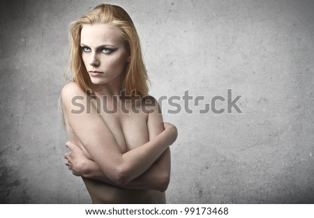 Beautiful naked woman - stock photo