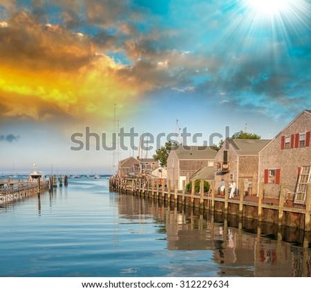 Beautiful Nantucket coast. - stock photo