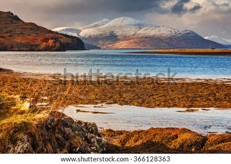 Beautiful natural landscape in Scotland