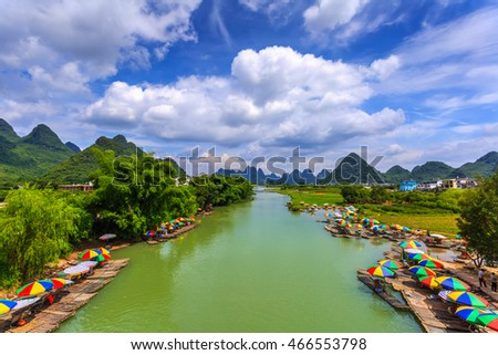 Beautiful natural landscapes of Guilin