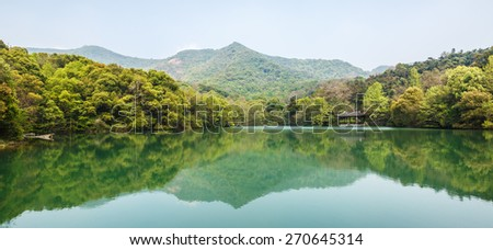 beautiful natural scenery in hangzhou - stock photo