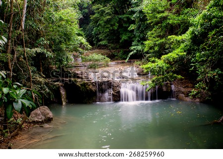 Beautiful Natural Waterfall in national park