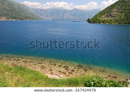 Beautiful nature in the Kotor Bay, Montenegro.