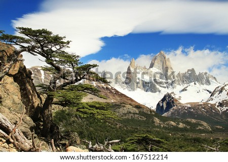 Beautiful nature landscape with Mt. Fitz Roy  - stock photo