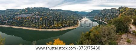 Beautiful nature landscape with vivid colors. - stock photo