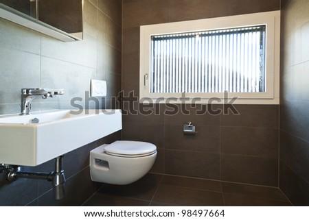 beautiful new  apartment, interior, bathroom - stock photo
