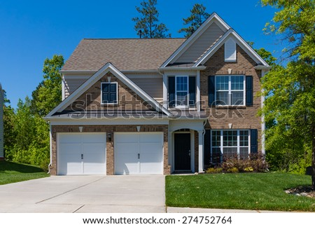 Beautiful new house - stock photo