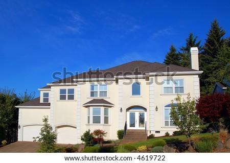 Beautiful New Luxury Home - stock photo