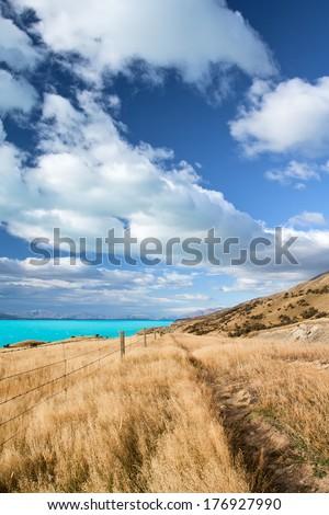 Beautiful New Zealand Landscape - stock photo