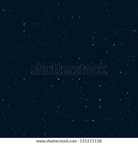 Beautiful night sky with sparkling stars abstract background - stock photo