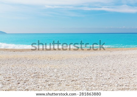 Beautiful ocean beach - stock photo