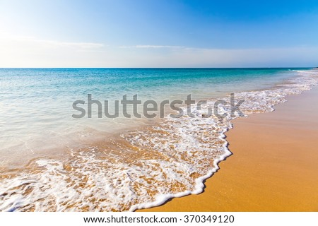 Beautiful ocean beach on Canary islands - stock photo