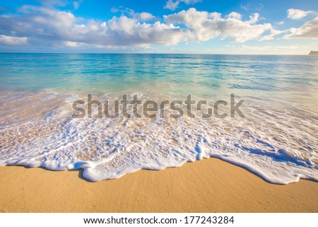 Beautiful Ocean Scape from Hawaii - stock photo