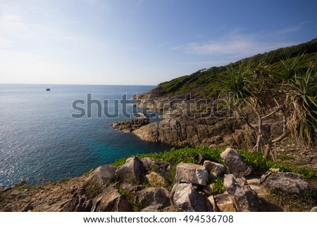 Beautiful ocean view from Ta Chai Island(Koh Ta Chai), Similan Islands, Thailand