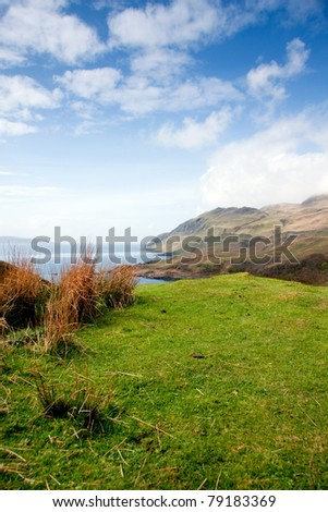 Beautiful ocean view of the Isle of Mull Scotland - stock photo