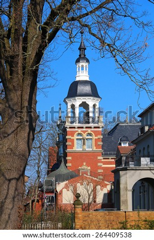 Beautiful old architecture at Wannsee in Berlin, Germany - stock photo