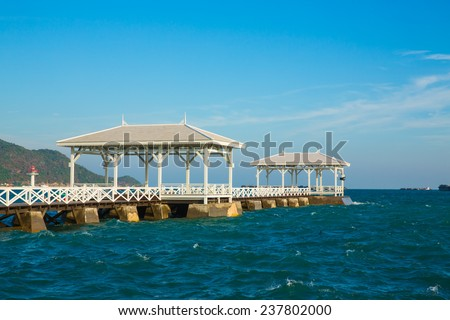 Beautiful old european pavilion on Si Chang island, Chonburi province,Thailand