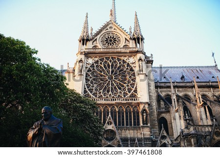 Beautiful old monument of culture in Paris