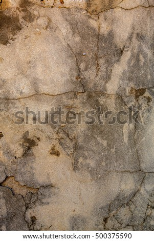 Beautiful old wall with large cracks texture Spider web cracks in texture of old painted plaster walls. Concrete wall with cement plaster and cracks in construction industry Background for your design