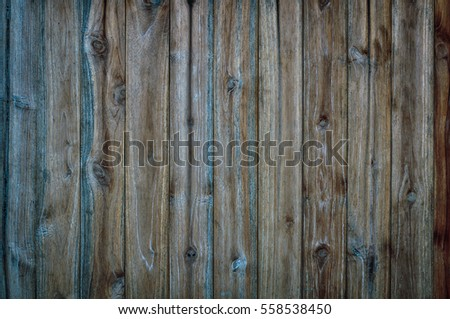 Beautiful old wooden wall with dark shadow