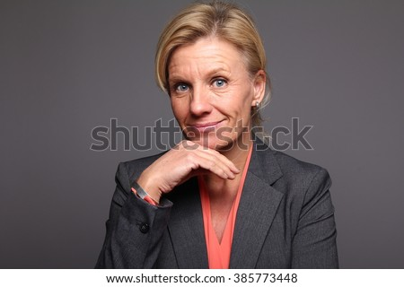Beautiful older woman - stock photo