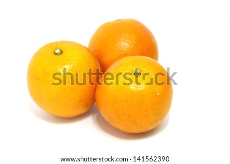 beautiful oranges was yummy on white background