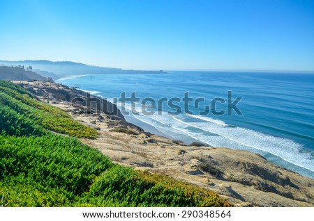 Beautiful Pacific coast, near Santa Barbara, California. - stock photo