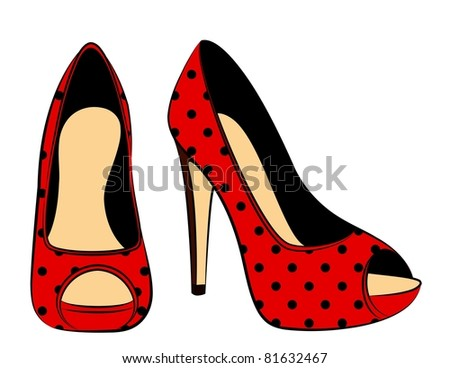 beautiful pair of shoes with high heel