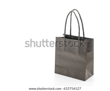 beautiful paper bag on white background